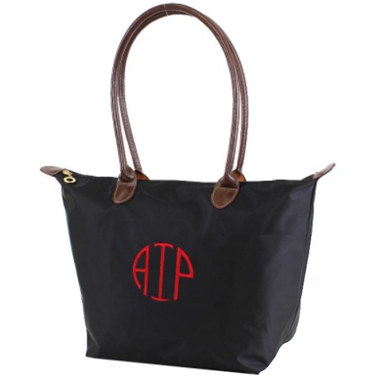 Monogrammed Fabric Tote Bag