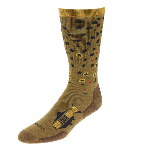 Rep Your Water - Trout Socks | Brown Trout