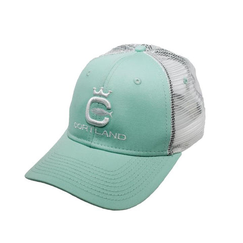 Cortland Logo Trucker Hat - Cool Mint