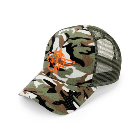 Hook & Fly Logo Camo Hat