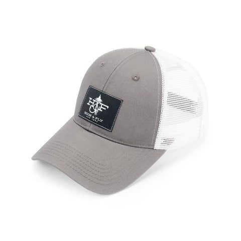 Hook & Fly Grey Patch Hat