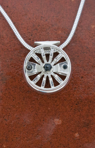 Tight Lines Jewelry 14mm Spokes Fly Reel Pendant