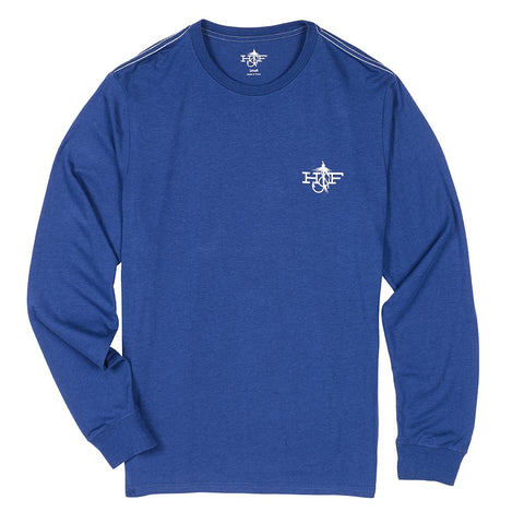 Hook & Fly Bamboo Long Sleeve Shirt (Navy)