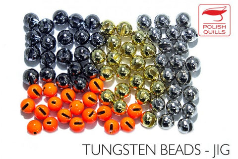 Slotted Tungsten Beads by Polish Quills