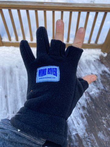 Wind River 3/2 Fingerless Fleece Gloves