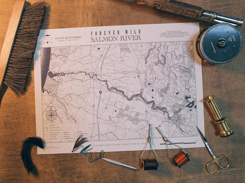 Forever Wild Fishing Map Salmon River