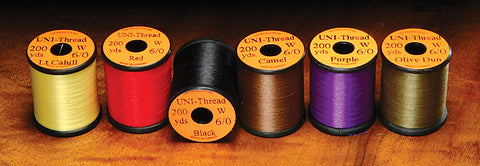 Uni Thread 6/0 136 Denier - 200 Yard Spools