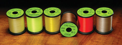 Uni Thread 8/0 72 Denier - 200 Yard Spools