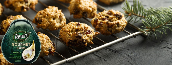 Delicious Oat, Banana and Raisin Christmas Cookies