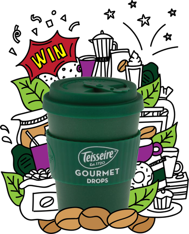 Win a Gourmet Drops Coffee Syrup Travel Mug