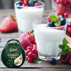 Quark with fruit and Vanilla Gourmet Drops