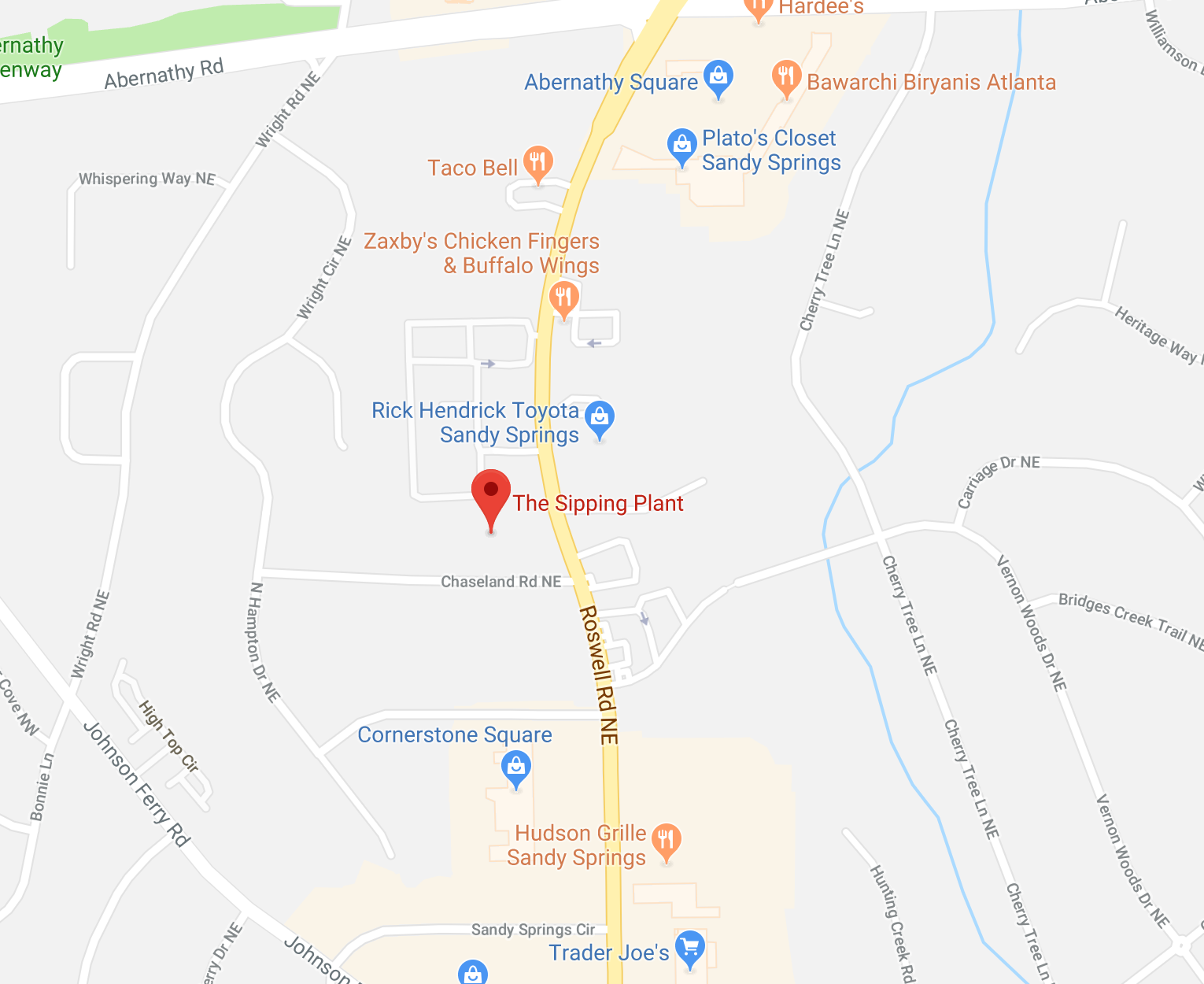 ... Toyota Of Sandy Springs, And Weu0027re In The Same Shopping Center As Team  Octopus Fitness, Bury The Hatchet, Sherwin Williams And Kudzu And Company.