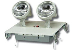 2 Head Recessed Emergency Fixture w/Battery & Remote Capability, White Housing, 120/277V
