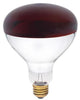 250 Watt R40 Incandescent Light Bulb, Red Infrared Heat Non-Stick Flood E26 (Medium) Base