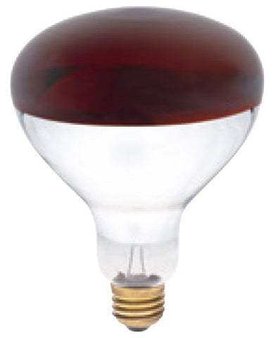 R40 Heat Lamps 250/375 Watt Red/Clear Light Bulb