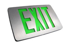 Thin Die Cast, DF Green/Red, AC only/Battery Backup Exit Sign LED