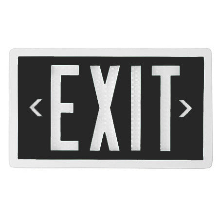 Tritium Exit Signs - Single Sided - Non-Electrical Exit Signs