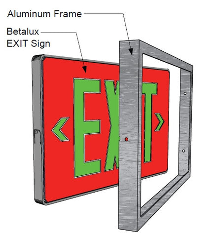 Exit Signs Aluminum Frame