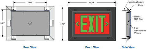 Exit Signs Institutional Frame