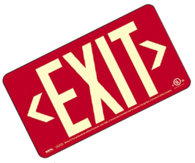 EXIT Sign, Centurion 100, Wall Mount, Black/ Green/ Red