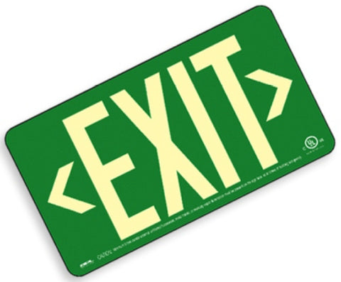 EXIT Sign, Centurion 100, Double Sided w/T-Bar Mount Bracket