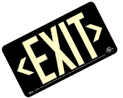 EXIT Sign, Centurion 100, Single Sided, w/T-Bar Mount Bracket