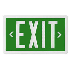 Exit Sign - Self Luminous Tritium - Green - 10 or 20 Year - Single / Double Sided