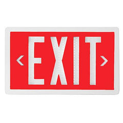 Exit Sign - Self Luminous Tritium - Red - 10 or 20 Year - Single / Double Sided