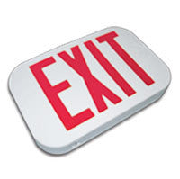 Rounded EXIT Sign Compact Design, SF/DF, 120 or 277V AC Power