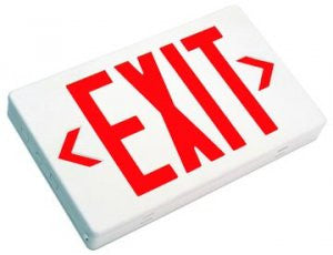 LED Exit Sign Single or Double Face - Red Letters 120/277V