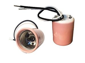 HID LAMP HOLDER - MOGUL BASE - PINK CERAMIC
