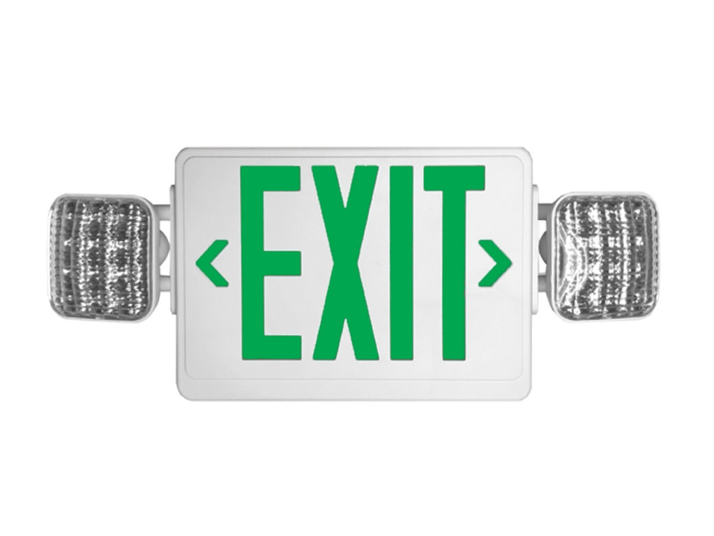 White LED Combo, SF/DF, Green/Red White Exit Light
