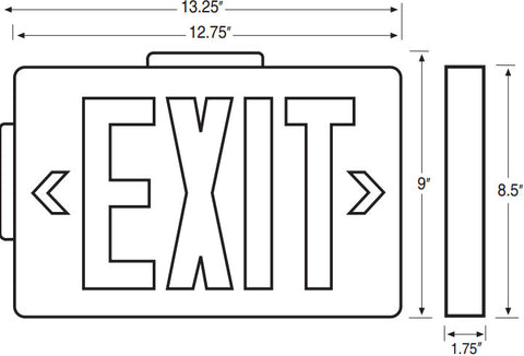 Exit Signs – Exit Sign Wiring-diagram 277v