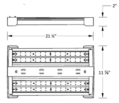 LED Highbay 110W 4000K or 5000K - 120/277V - DLC - Dimmable Option Available