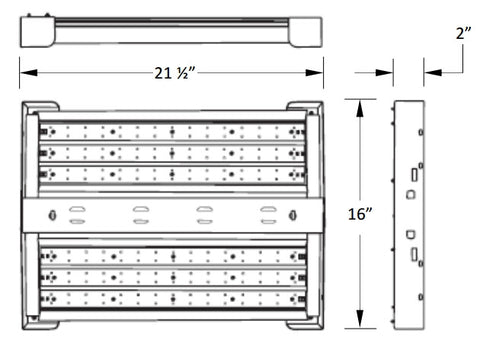 LED Highbay 165W - 4000K or 5000K - 120/277V - DLC - Dimmable Option Available