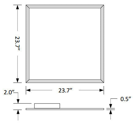 32W - 2X2 LED Flat Panel - DIM - 4000k or 5000k - 120/277v - DLC Premium