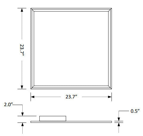 40W - 2X2 LED Flat Panel DIM - 4000k or 5000k - 120/277v - DLC