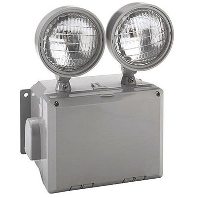 Wet Location 2 Head Emergency Light Unit 120/277V 7.2 Watt