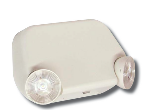 LED Low Profile Thermoplastic Emergency Unit, White/Black Housing