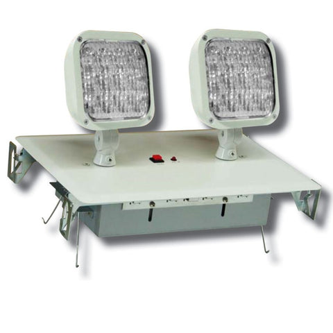 Recessed LED Emergency Unit, White/Black Housing