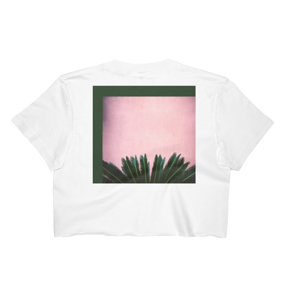 Palms In Pink Crop Top