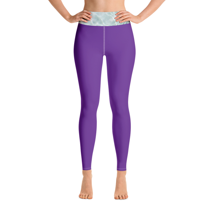 Purple Waves Yoga Leggings