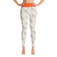 Orange Palmera Yoga Leggings