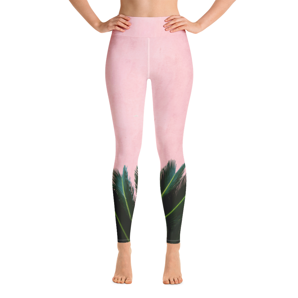 Palms In Pink Leggings