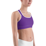 Purple Waves Sports Bra