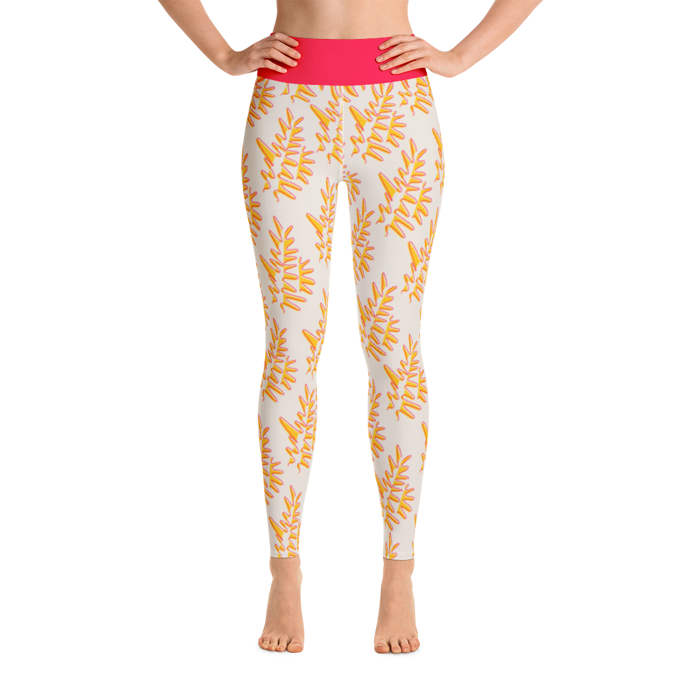 Red Coral Sunset Yoga Leggings