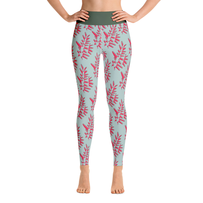 Green Palmera Yoga Leggings