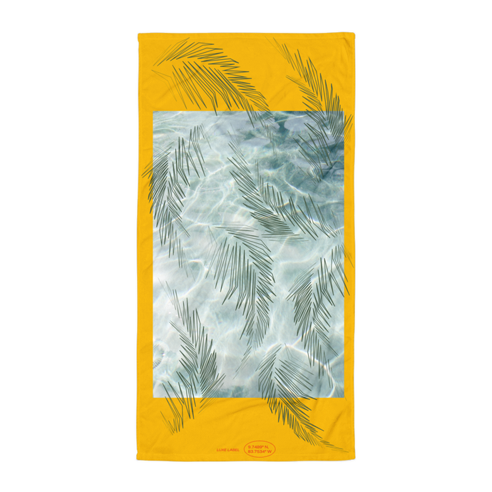 Yellow Palma Waves Towel