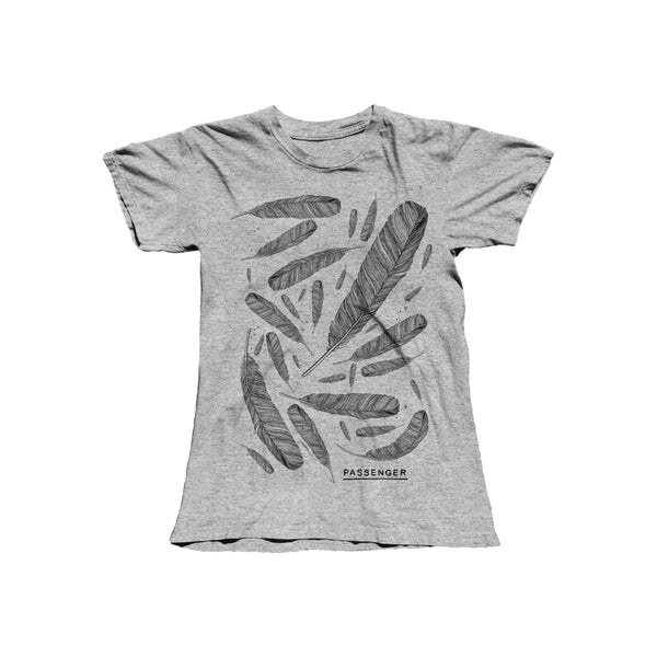 Young as Morning Old as the Sea | Ladies Feather T-Shirt (Grey)
