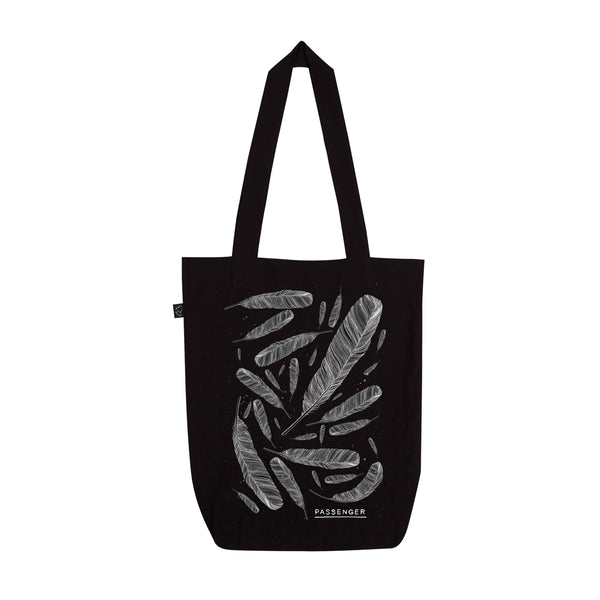 Young as the Morning Old as the Sea | Feather Tote Bag